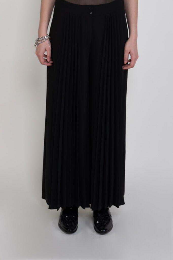 Sembol Önü Pilise Detaylı Rahat Kesim Şık Kadın Pantolon 3281