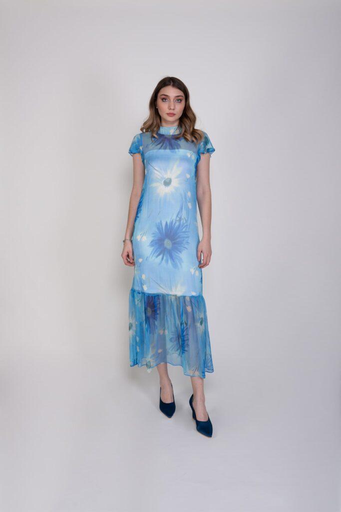 Sembol Giyim İçlikli Şık Kadın Elbise 9892