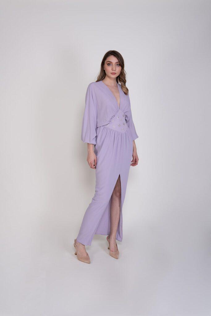 Sembol Giyim İşleme Detaylı Şık Kadın Elbise 9899