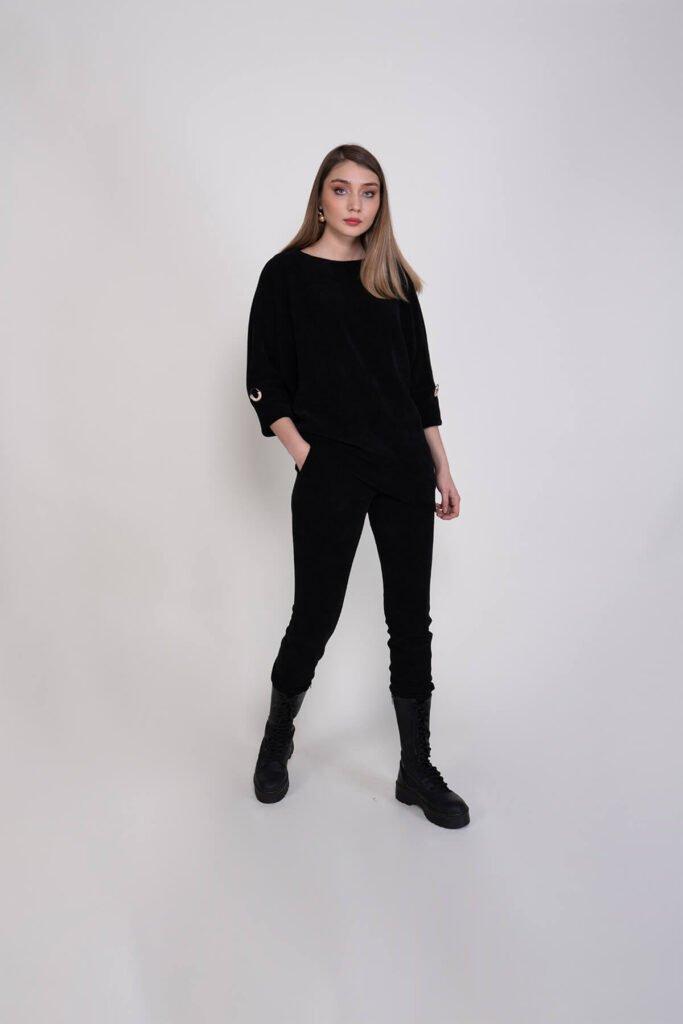 Yarasa Kol Rahat Giyim Kadın Alt-Üst Takım 710