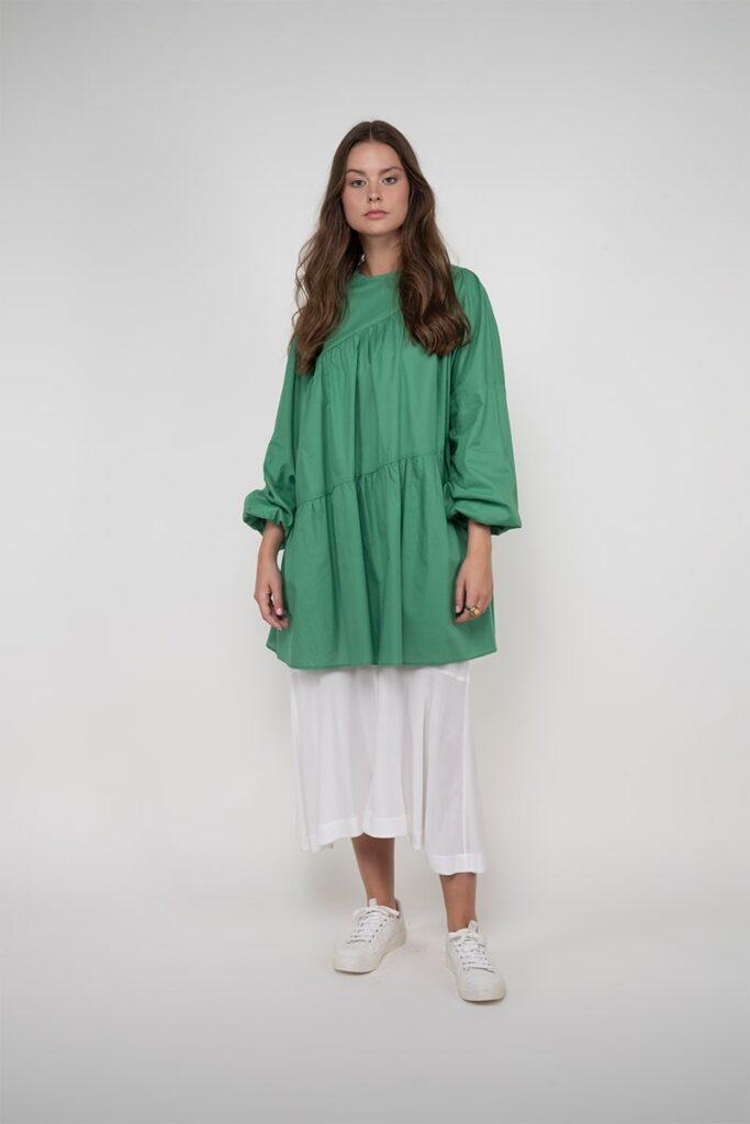 Sembol Giyim Oversize Kesim Elbise Kullanımlı Kadın Tunik 193601